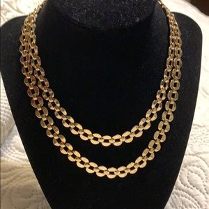Gold tone necklace vintage style